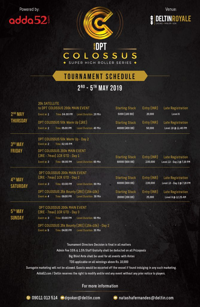 DPT Colossus 2019 Schedule